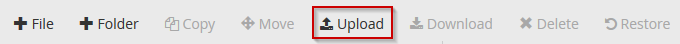 cPanel File Manager Upload Button