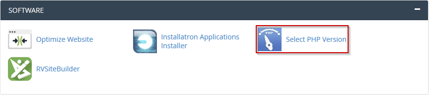 cPanel PHP Selector