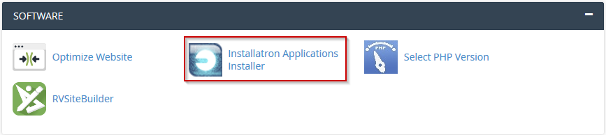 Installatron Icon in cPanel