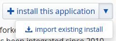 Installatron import button
